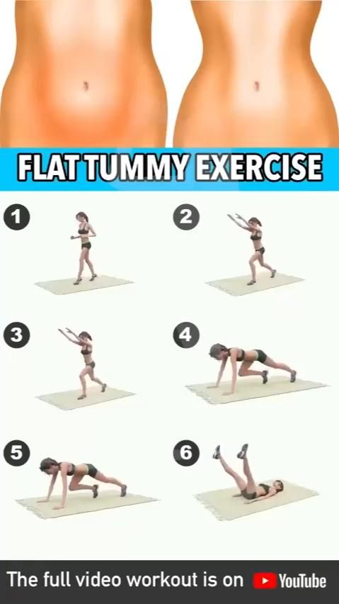 Flat Tummy Belly Fat Exercises