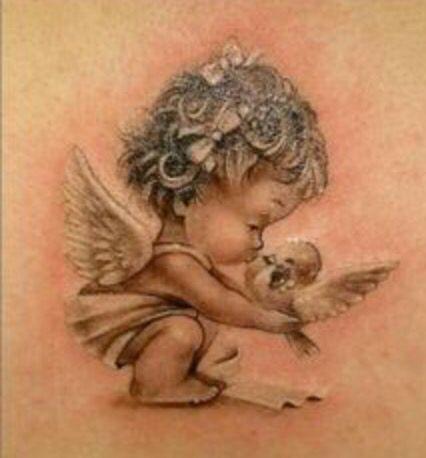 Ange Bisous Oisrau Tatouage D Ange Tatouage De Bebe Ange Bebe Tatouage