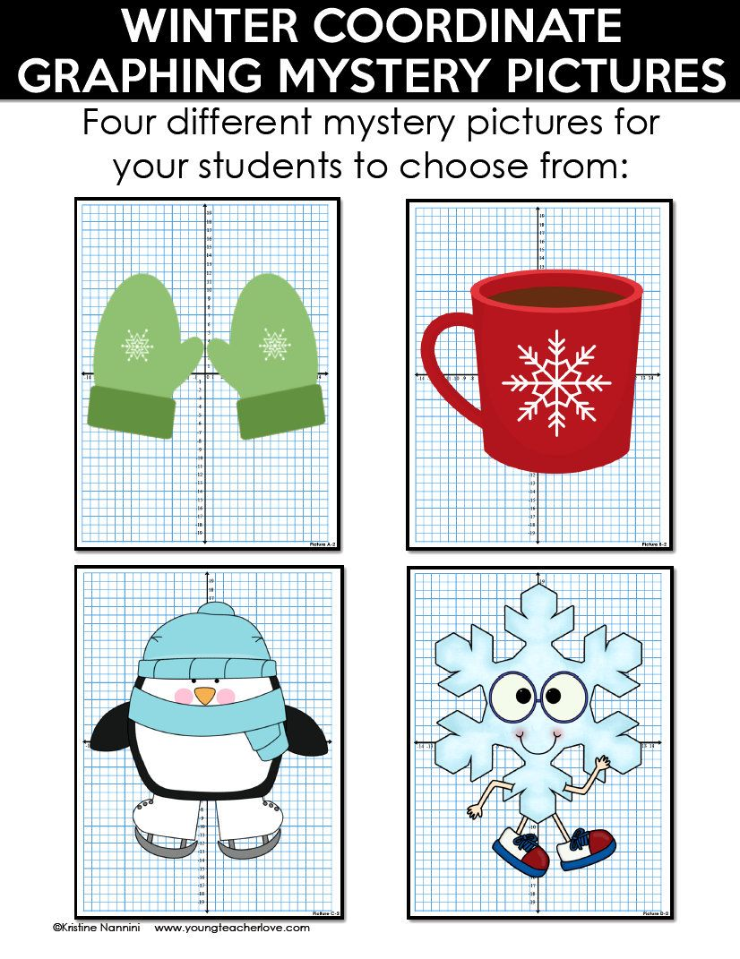 worksheet Winter Coordinate Graphing winter coordinate graphing pictures ordered pairs mystery my students absolutely love these now they are differentiated