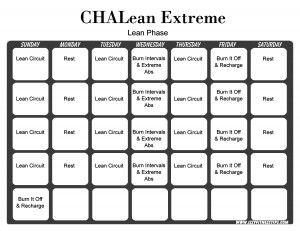 Chalean Extreme Lean Phase | Dvd Fitness Schedules | Pinterest