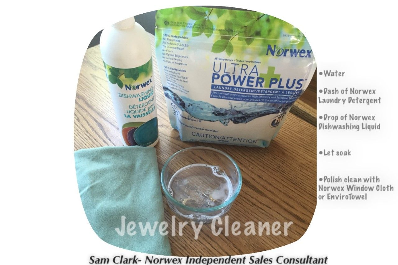 Clean Your Jewelry With Norwex Upp Laundry Detergent And