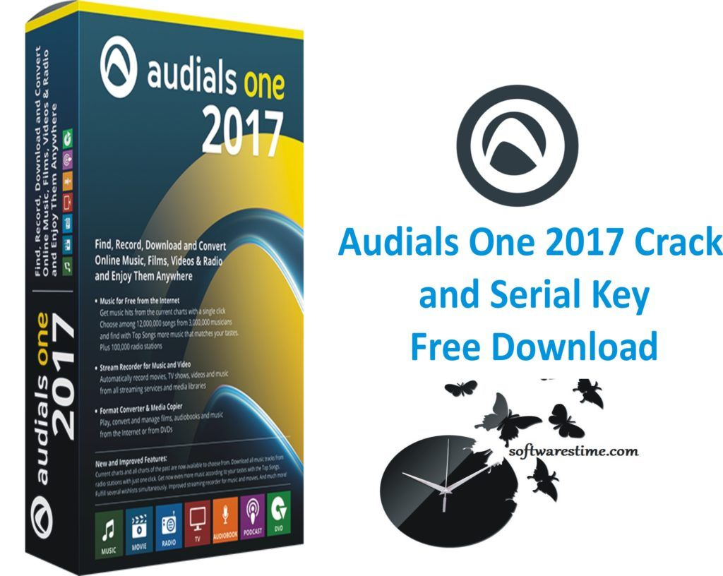 Audials One 2017 Crack and Serial Key Free Download