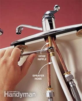 Replace A Sink Sprayer And Hose Faucet Repair Faucet Kitchen