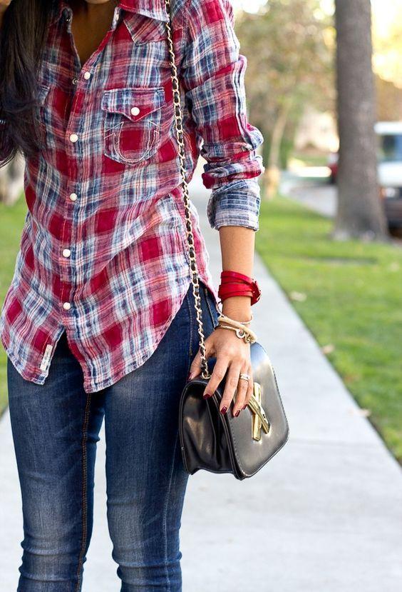 ca22865e1 outfits juveniles con blusas de cuadros - Buscar con Google ...