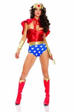 Our Wonder Woman costumes are perfect for Halloween. Become a true superhero in our adult Wonder Woman costume this Halloween for a great price.  sc 1 st  Pinterest & Forplay Womenu0027s Super Woman Costume Set from Forplay | Womens ...