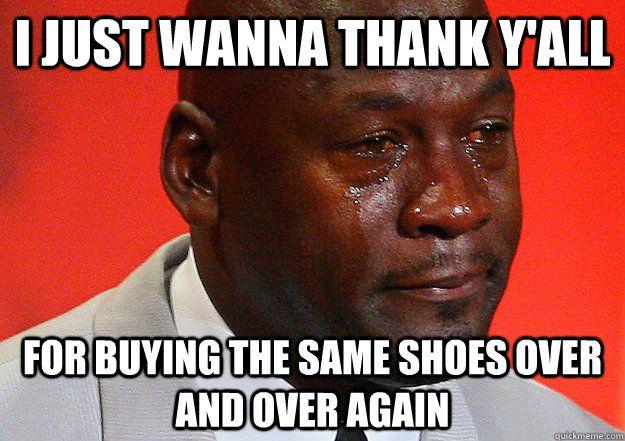Jordan Shoe Quotes Funny Quotesgram Nba Funny Black Girl Problems Crying Michael