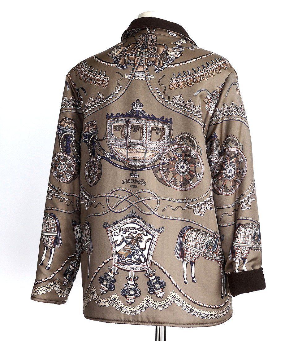 8127c427cba Image result for reversible silk jacket hermes | coats | Cashmere ...
