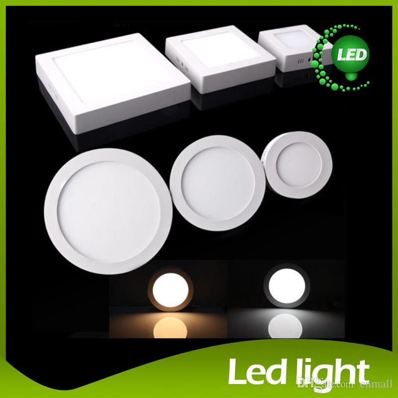 Dimmable 9w 15w 21w Led Panel Lamp Round Square Led Panel Light Surface Mounted Led Downlight Lighting Led Ceiling Down L Led Panel Light Led Panel Led Ceiling