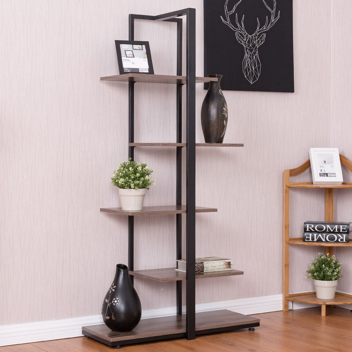 bookcase 60 modern open concept display etagere display shelf rh pinterest com Modern Bookcases Bookshelves with Drawers