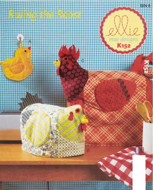 These potholder and appliance covers are just the thing to make your kitchen cozy.
