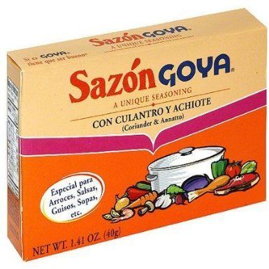 Goya Sazon Spice Packet For Seasoning Broth Or Mexican Food A Chef S Secret Sazon