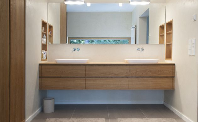 Holzwaschtisch mit Schubladen Badezimmer Pinterest