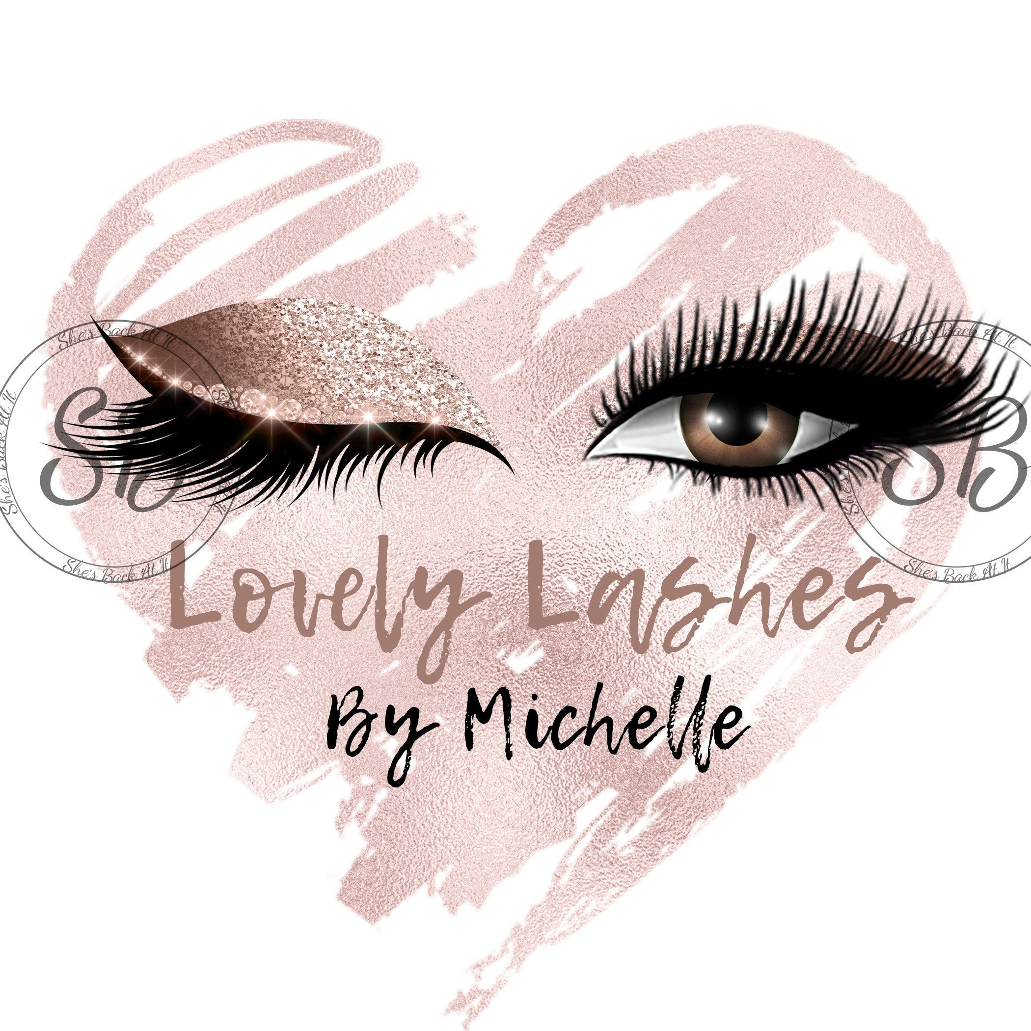 Custom logo, Lashes Logo, Eyelash Logo, Cosmetics Logo