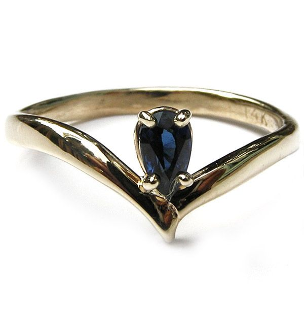 Beautiful 14k gold and blue sapphire ring. www.thefashionconnector.com