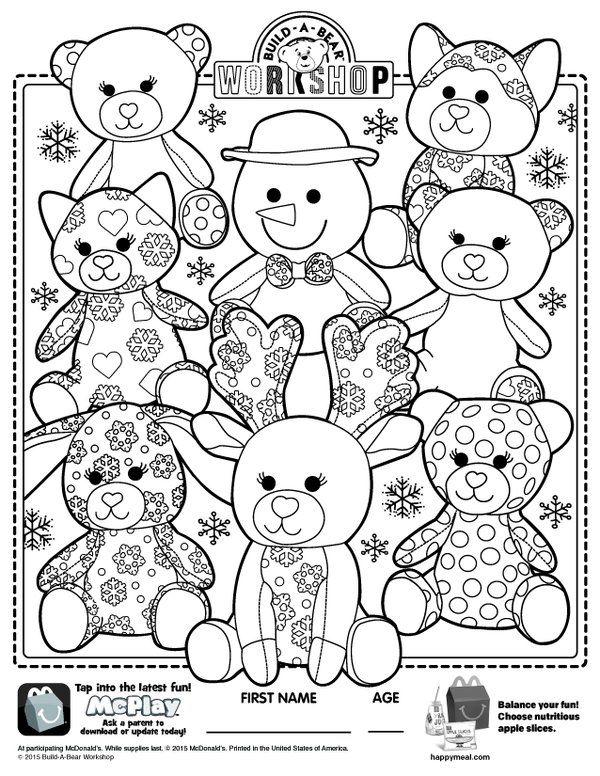 Build A Bear Workshop Online Build A Bear Coloring Pages