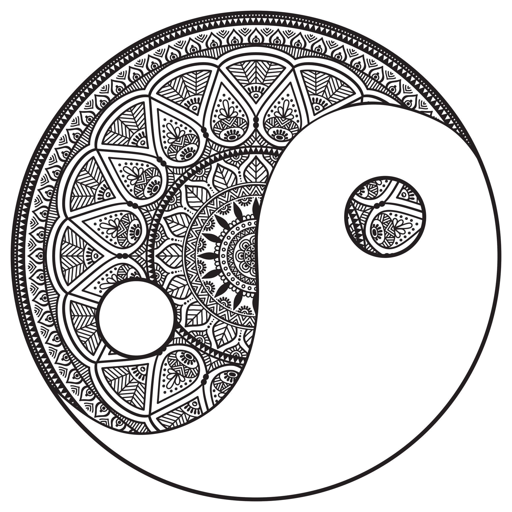 Yin Yang Png Indian Mandala Furniture Plaster Home Decor Crafts T Shirt Clothes Print 2048x2048px Digital Product Png Chakra Art In 2021 Mandala Coloring Mandala Coloring Pages Mandala Art Lesson