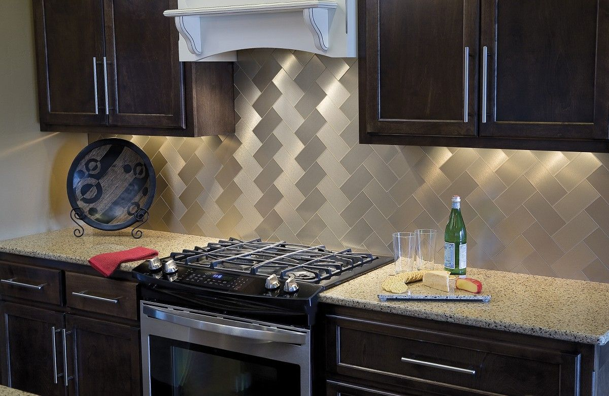 Aspect peel and stick metal tiles home decor pinterest metals