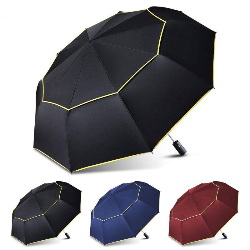 0581a5e420013 120CM Fully Automatic Double Big Umbrella Rain Women 3Folding Wind  Resistant Large Umbrella Men Travel Business Car Umbrellas-in Umbrellas  from Home ...