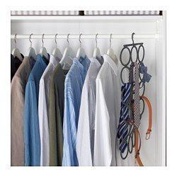 IKEA - KOMPLEMENT, Multihängare, Hjälper dig att hålla ordning på dina sjalar, skärp, slipsar och andra accessoarer.Tar lika liten plats som en galge, men har plats för minst 18 olika accessoarer.