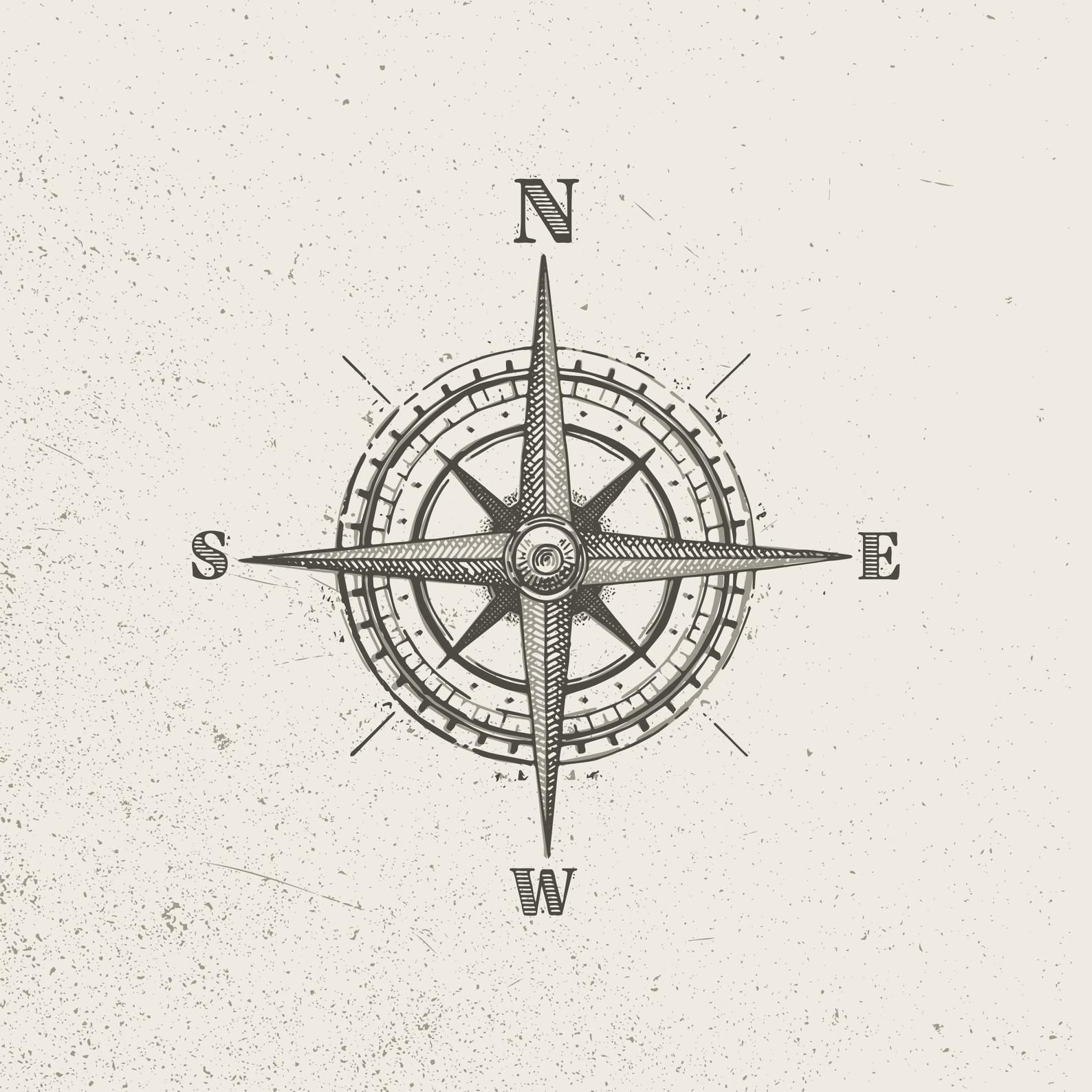 Vector Vintage Compass Style A Etsy In 2020 Traditional Compass Tattoo Compass Tattoo Vintage Compass Tattoo