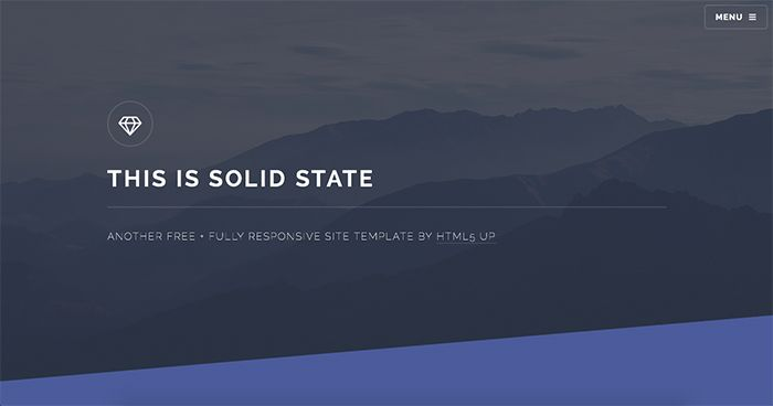 Solid State: Free Html5 Template of the Week