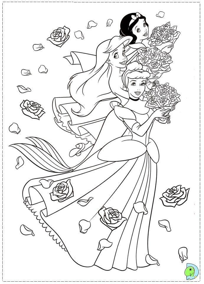 Coloriage Disney Princesse Disney Princess Coloring Pages Princess Coloring Pages Cinderella Coloring Pages
