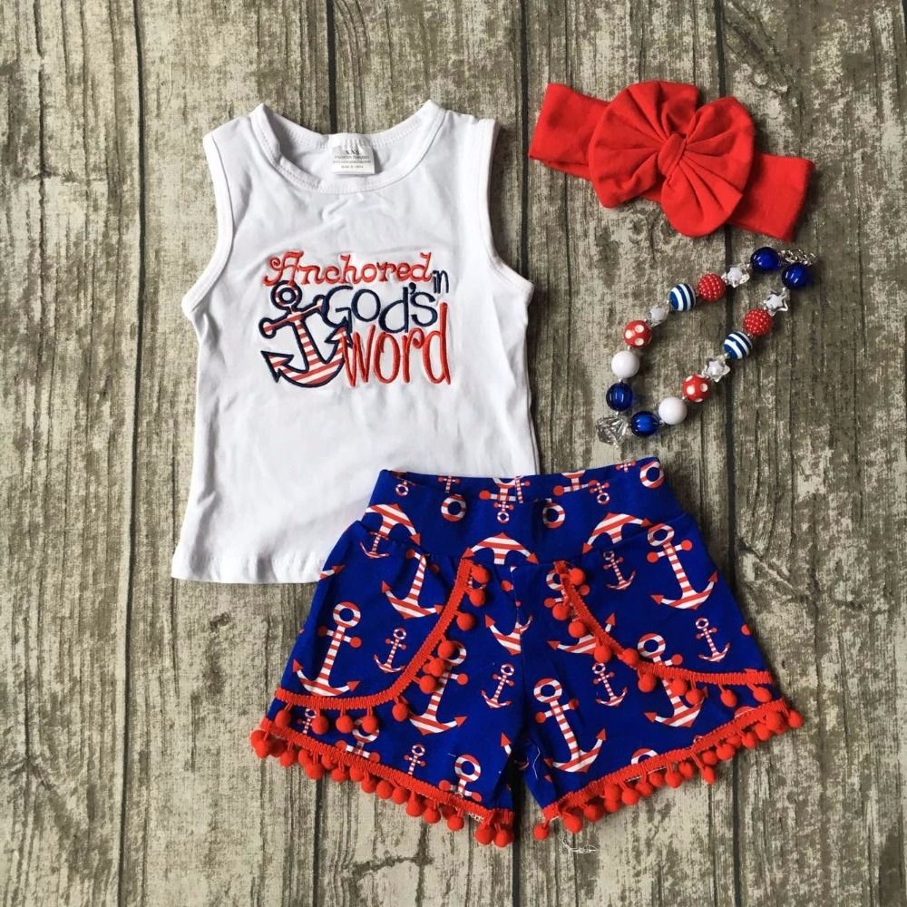 902ff90e5 Click to Buy    July 4th Summer outfit girls clothes God s word kids ...