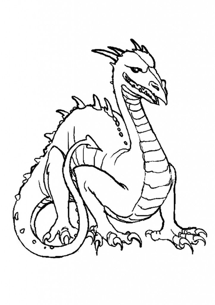 Free Printable Dragon Coloring Pages For Kids | Pinterest | Komodo ...