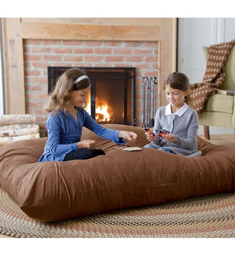 I kind of love this... Versatile Oversized Floor Pillow. The whole ...