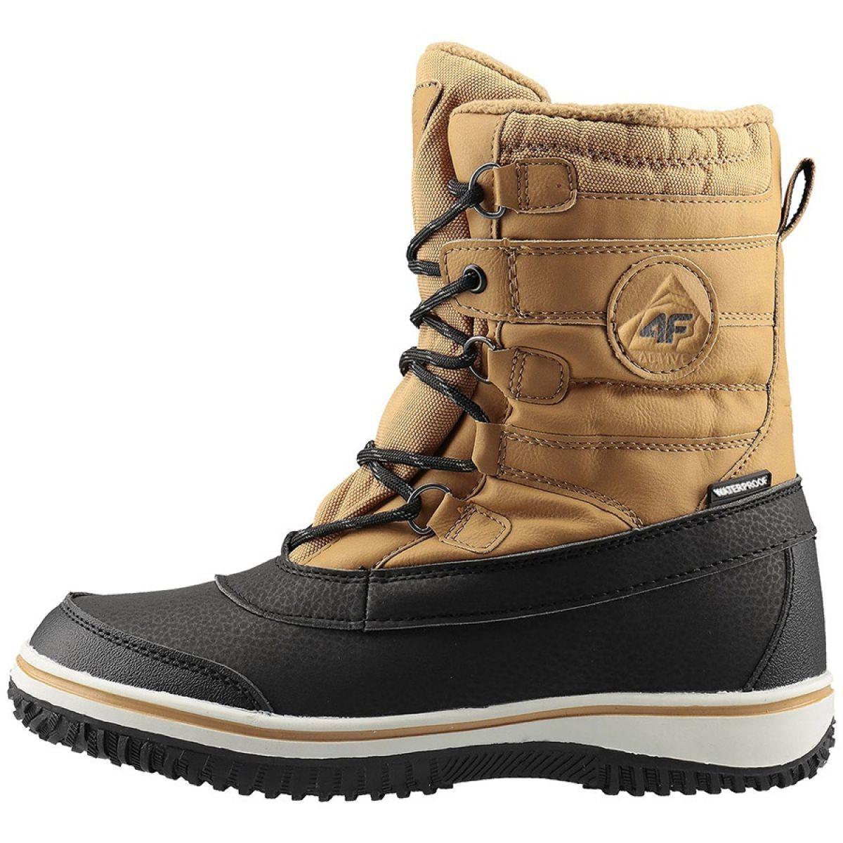 Buty Zimowe 4f Jr Hjz19 Jobma001 71s Bezowy Czarne Winter Shoes Winter Boots Shoes