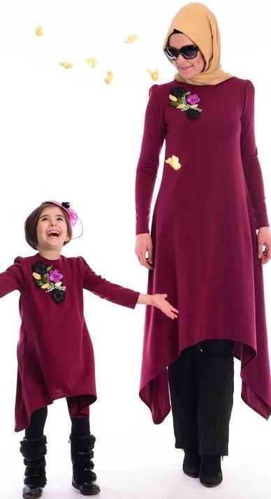 Tesettur Anne Kiz Kombinleri Ve Kiyafetleri Kiyafet Islami Moda Mutevazi Moda