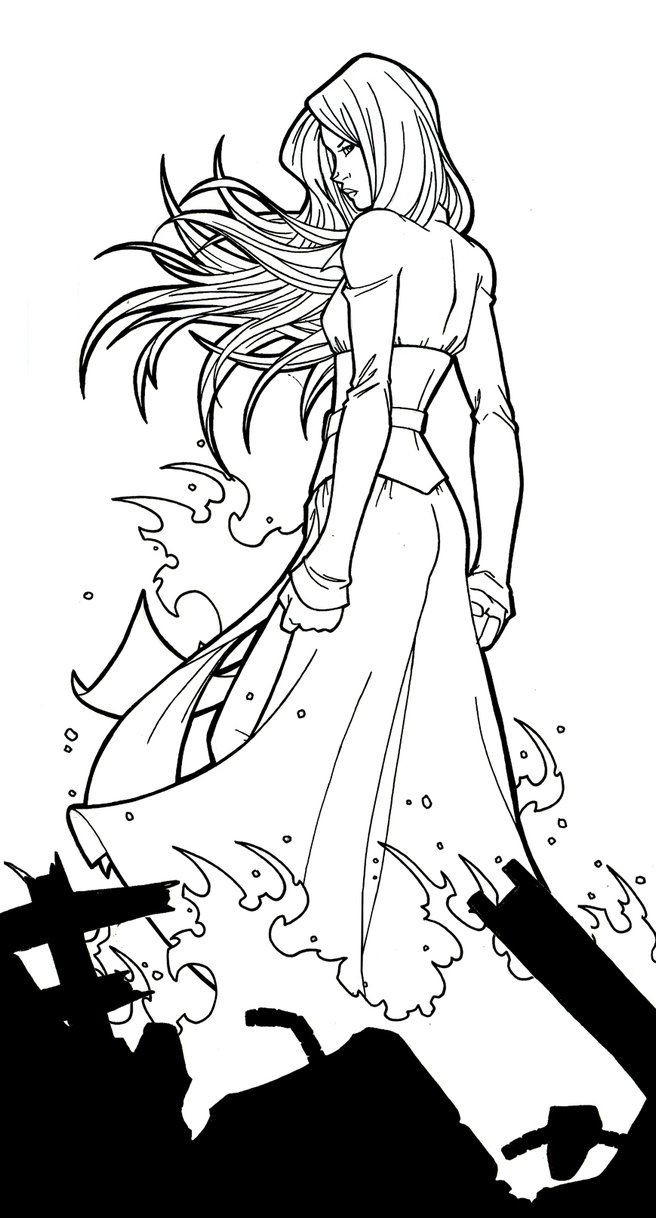 Pin On Lineart Jean Grey