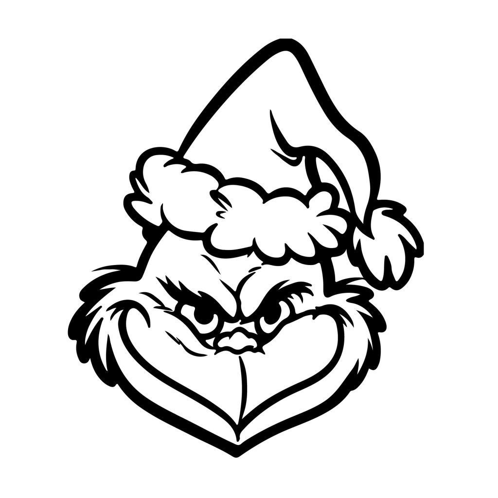 Grinch Christmas hat | Grinch coloring pages, Grinch ...