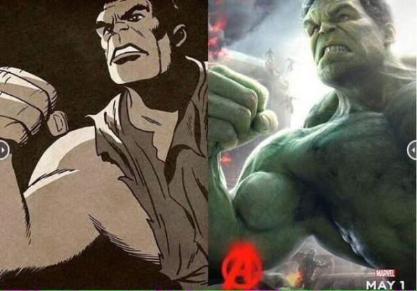 Original Avengers vs. the movie posters (10 Photos)
