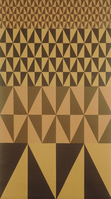 Sven Markelius; 'Set Square' Fabric for Theater Curtain for People's House in Linköping, c1950.