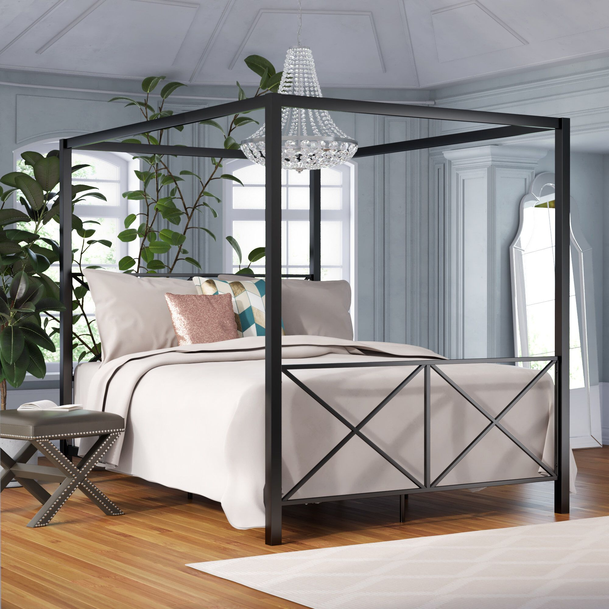 Gilma Canopy Bed Canopy bed frame, Queen canopy bed