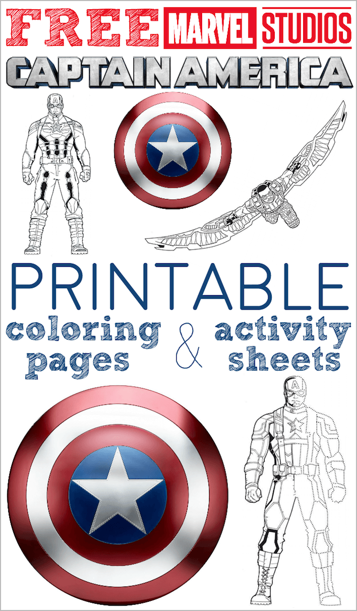 Free Printable Captain America Coloring Pages And Activity Sheets Captain America Coloring Pages Captain America Printables Captain America Birthday