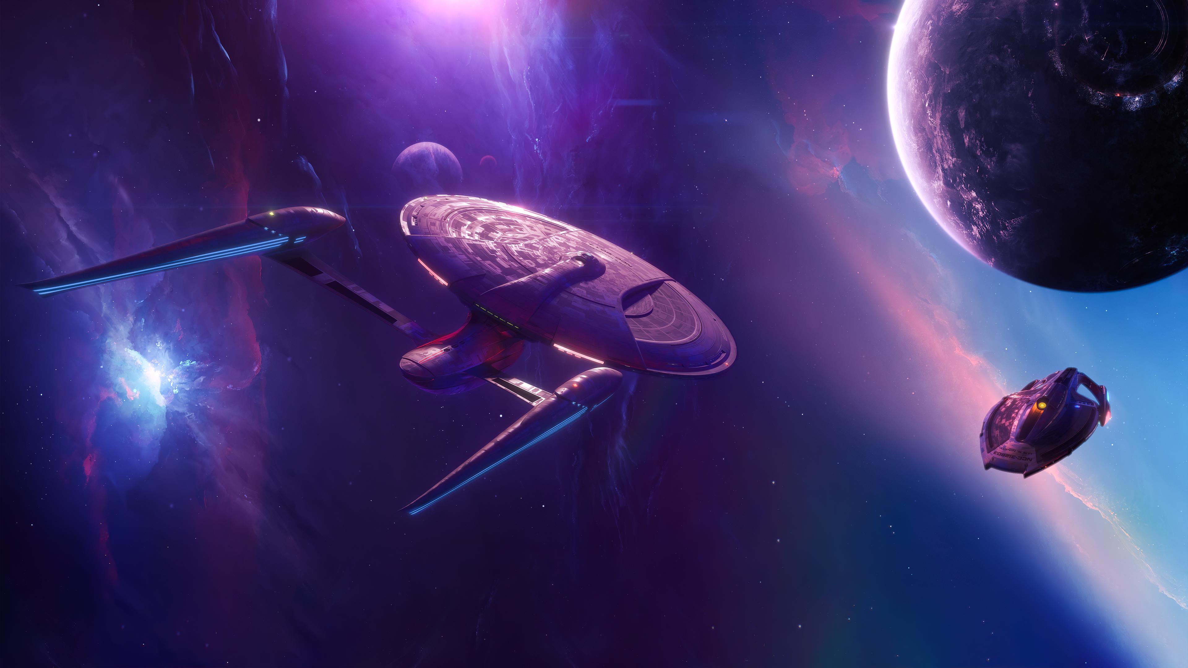 Dedication Class Starship By Andrew Gavrilov 3840x2160 Starship Lego Wallpaper Music Wallpaper