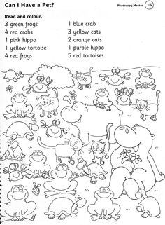 if they have done number colour and animals change the english writing to french - Pictures Of Animals To Colour In