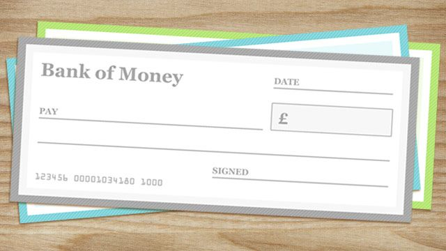 Blank Cheque Templates In Three Versions  Dollar Euro And Pound