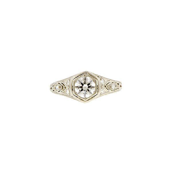 Doyle & Doyle | Engagement Ring: Art Deco Engagement Ring, Old Euro 0.55ct
