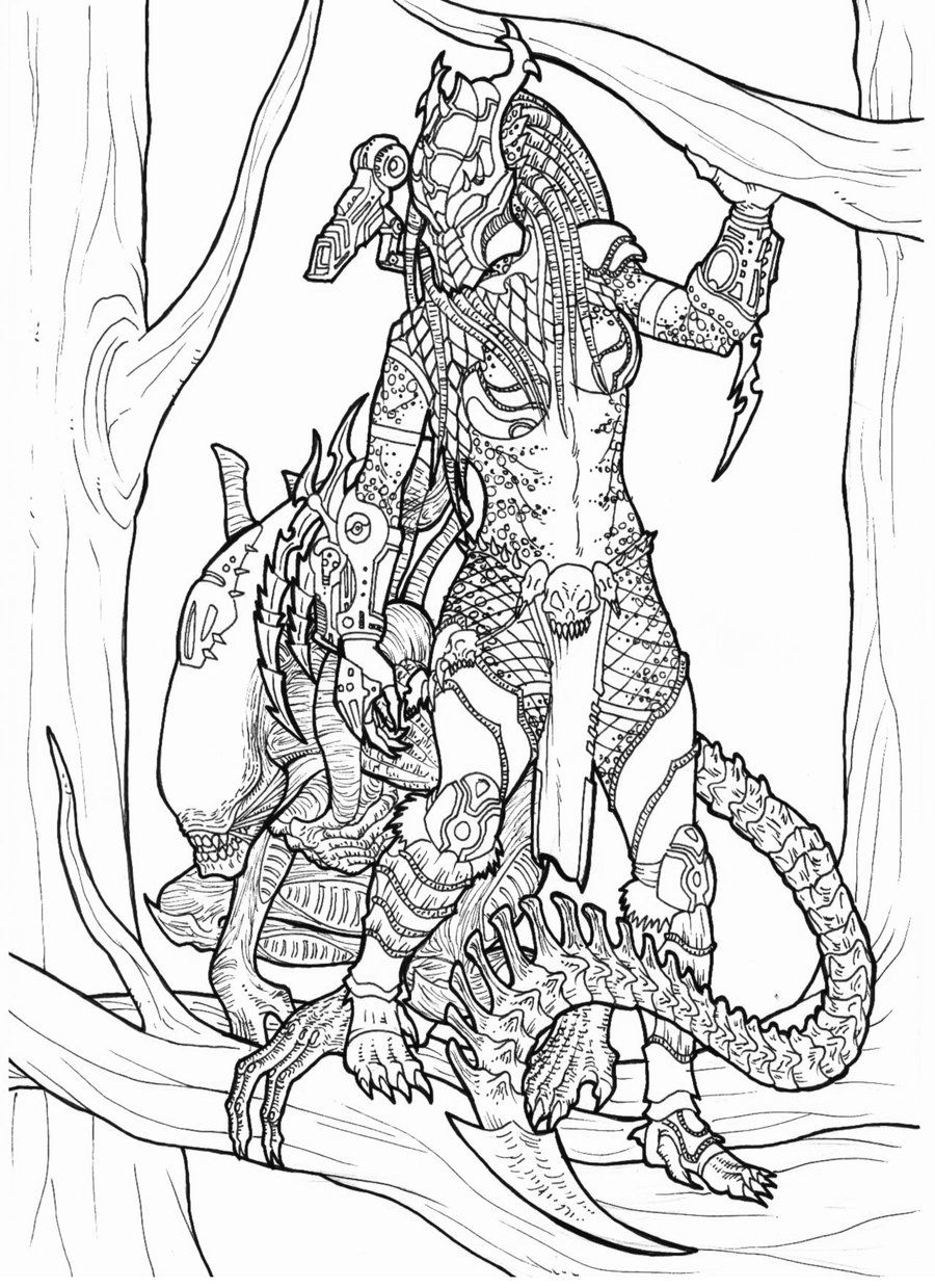 Pin By Giovani Bruno On Coloring Predator Art Predator Cosplay Predator Alien