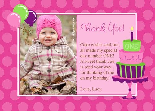 1st Birthday Quotes For Cards QuotesGram – Birthday Thank You Card Wording