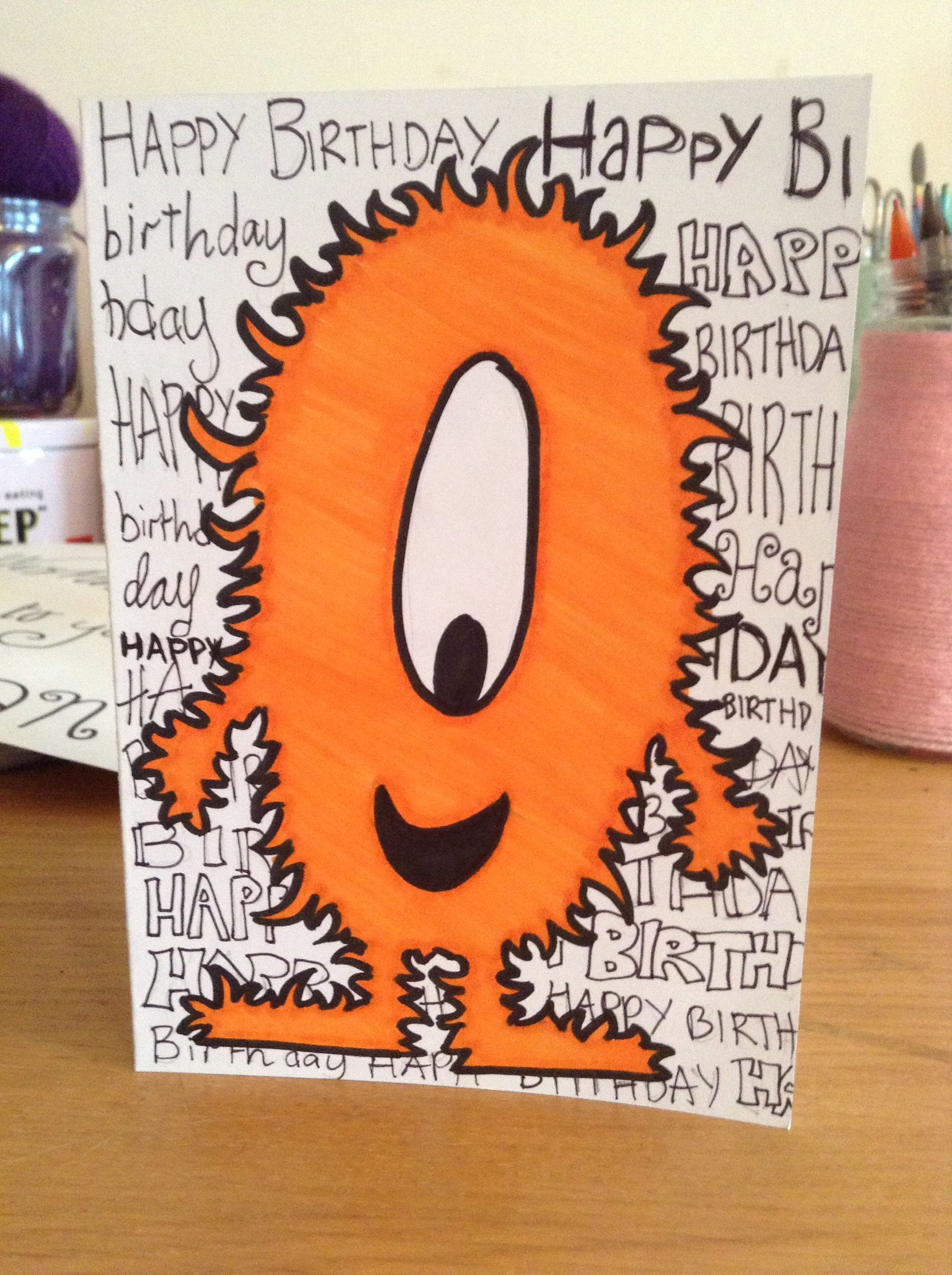 Monster Happy Birthday Card