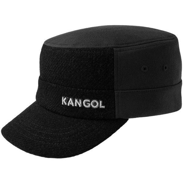 d37dc79ef07d8 Men s Kangol Flexfit Textured Wool-Blend Army Cap (49 CAD) ❤ liked on  Polyvore featuring men s fashion