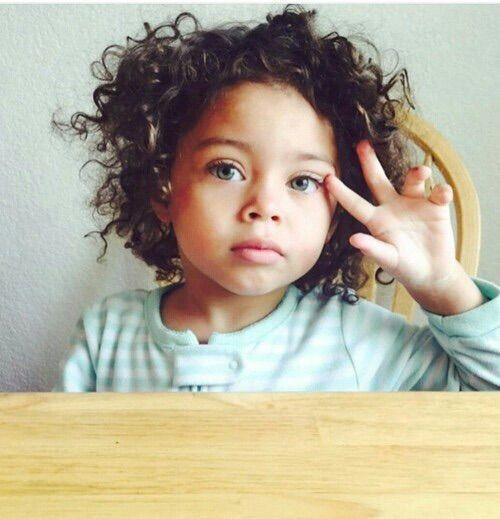 Imagem Atraves Do We Heart It Child Curlyhair Cute Hair Kid
