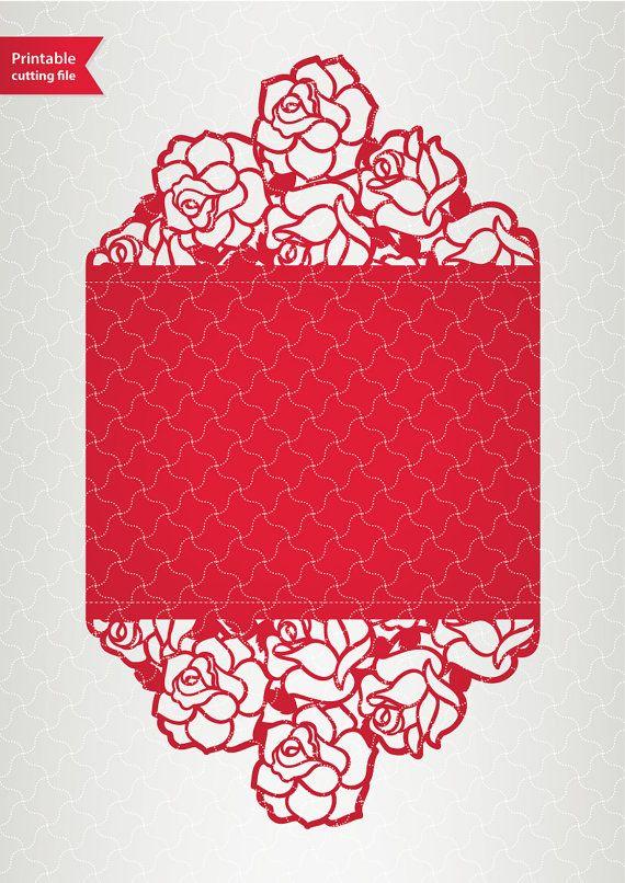 vector template laser cut wedding invitation svg