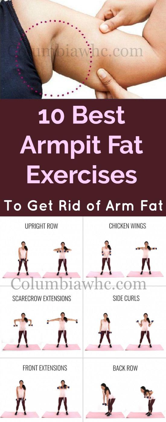 10 Best Armpit Fat Exercises To Eliminate Arm Fat #armexercises