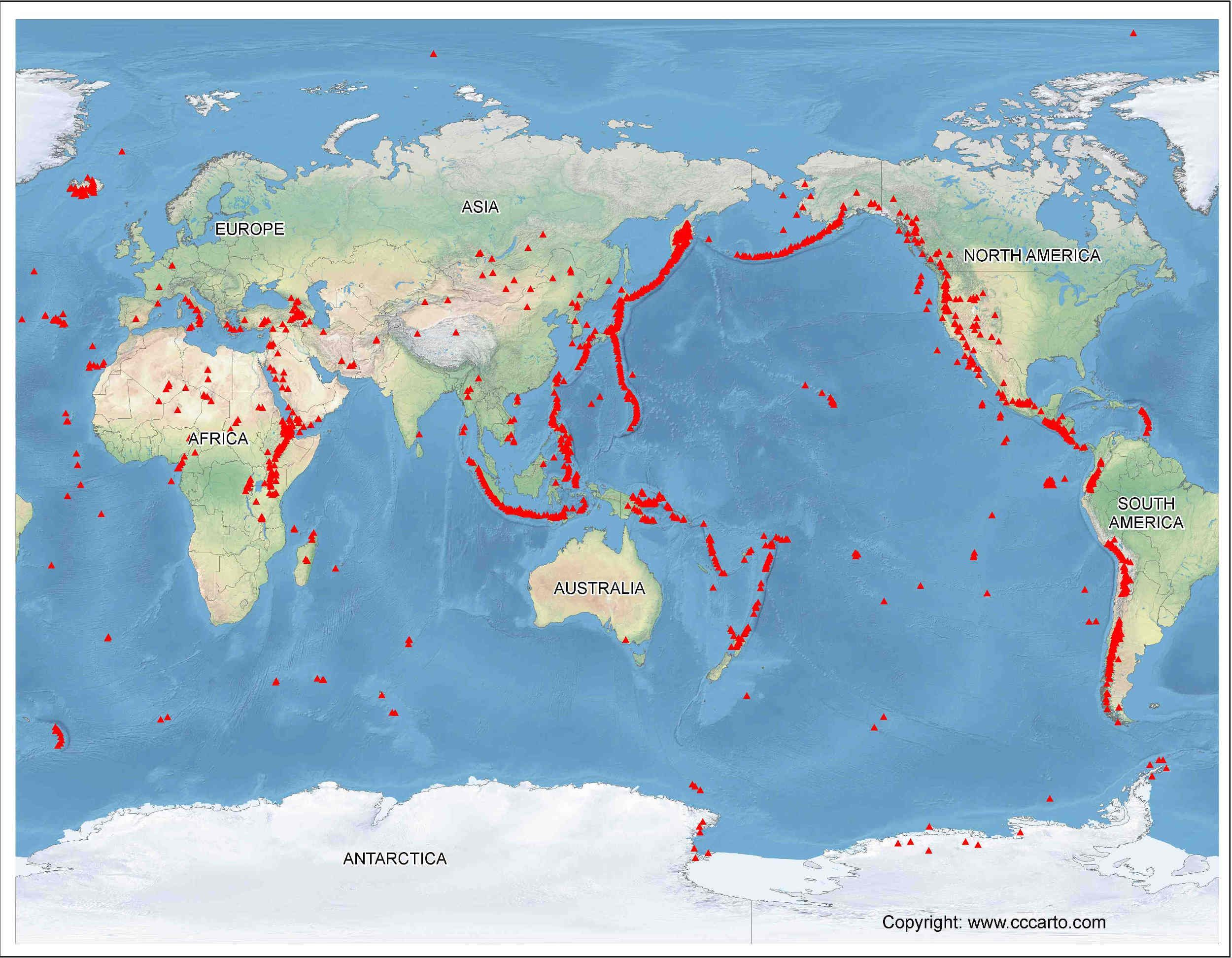 Global Vulcanism Chart Google Search Earth Pinterest - Volcanoes in usa map