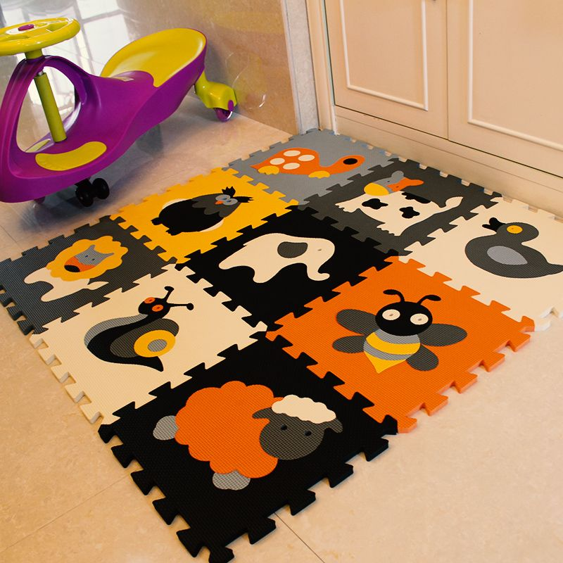 Meiqicool 9pcs Set Eva Foam Play Mat Baby Puzzle Floor Mats Carpet